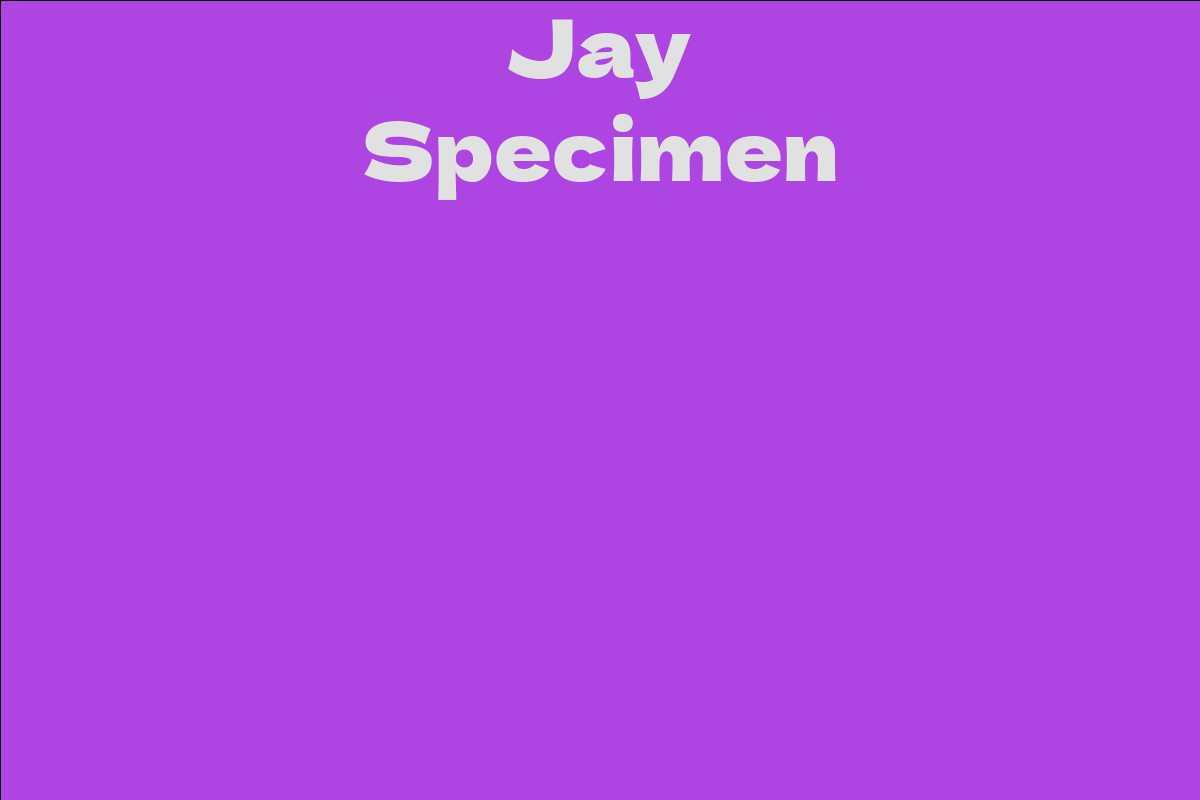 Jay Specimen