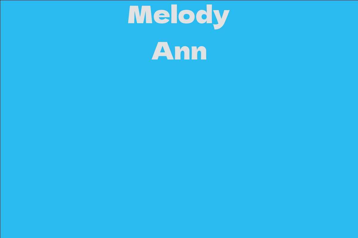 Melody Ann