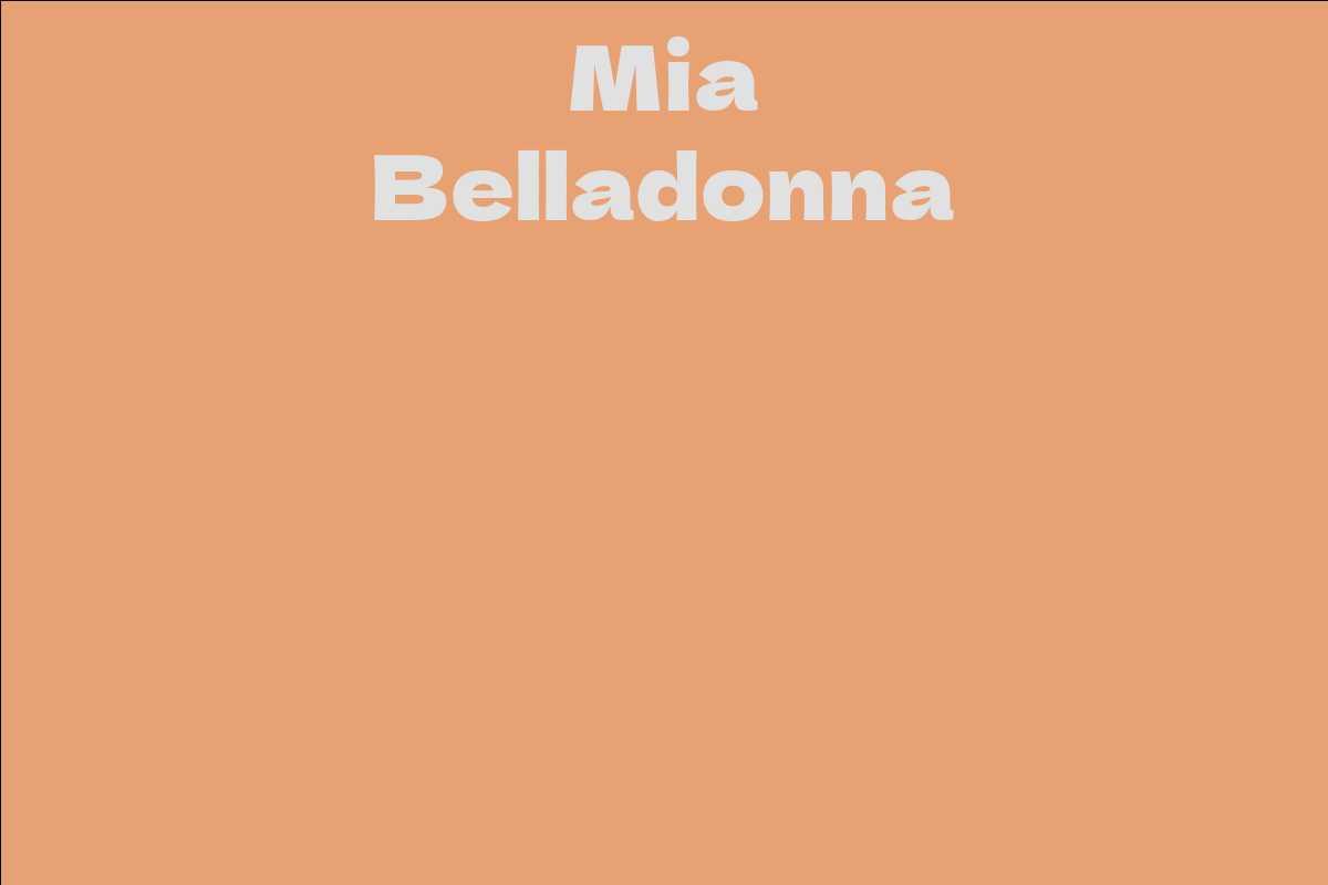 Mia Belladonna